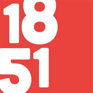red box with the numbers 1851